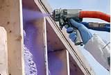 Purple Spray Foam Insulation Photos